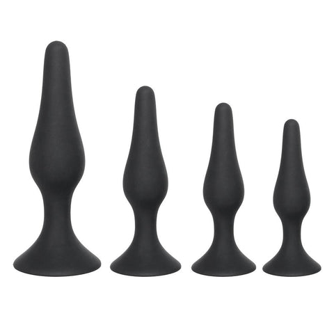 4 SIZES AVAILABLE BLACK SILICONE PLUG  419Positive
