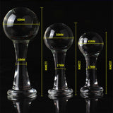 3 SIZES BIG BALL-SHAPED HEAD TRANSPARENT BUTT PLUG  playgeonaute