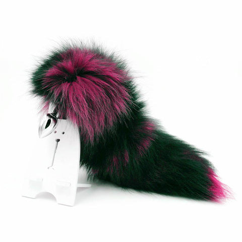 "16"" BLACK WITH PINK CAT TAIL METAL PLUG  ever-us"