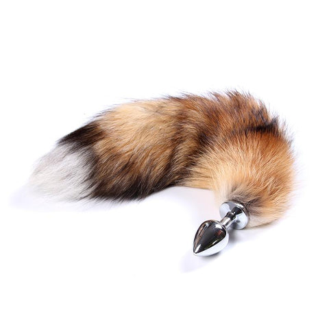 BROWN FOX TAIL METAL PLUG  419Positive