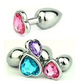 MULTI COLOR JEWELED STAINLESS STEEL PLUG  419Positive