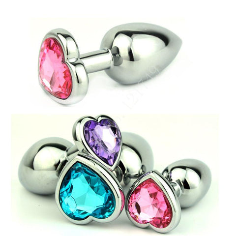 MULTI COLOR JEWELED STAINLESS STEEL PLUG  theelaborated