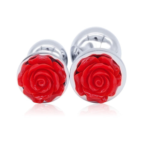 Image of 3 PCS/SET STAINLESS STEEL ROSE-PLATED PLUGS WITH 10-SPEED VIBRATOR  pluglust