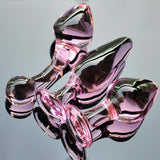 3 STYLES PINK GLASS CRYSTAL BUTT PLUG  ever-us