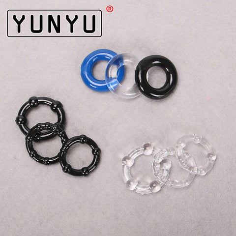 3 Sets Silicone Cock Rings Delay Ejaculation Penis Rings