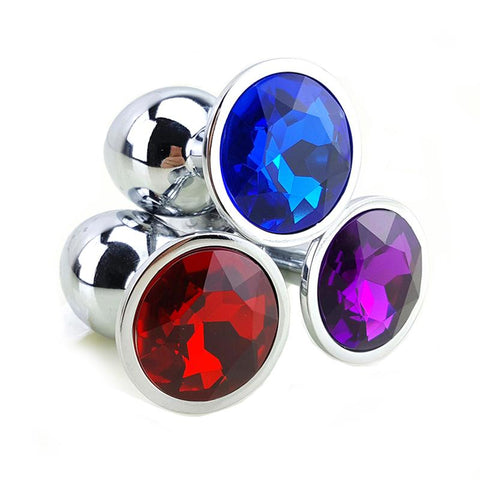 "3"" JEWELED METAL PRINCESS PLUG - 12 COLORS AVAILABLE  playgeonaute"