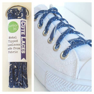 Blue Bandana Shoe Laces by Cute Laces
