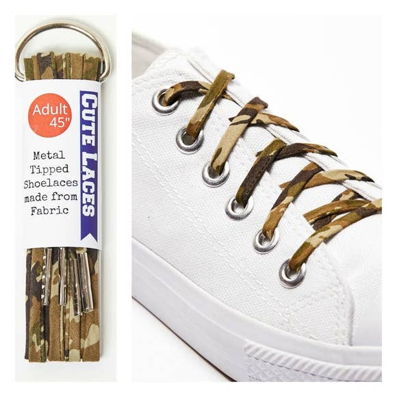 Camoflauge Shoe Laces by Cute Laces