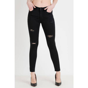 Black Distressed Skinny Jean- Teen/Junior