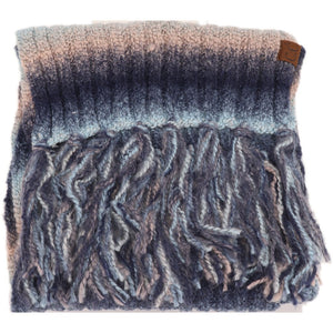 Ombre Knit Scarf with Fringe (multiple colors)