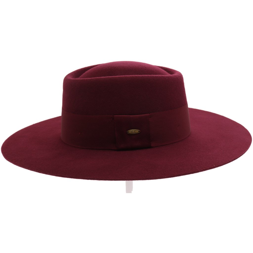 Wide Brim Wool Felt Panama Hat (multiple colors)- Teen/Junior
