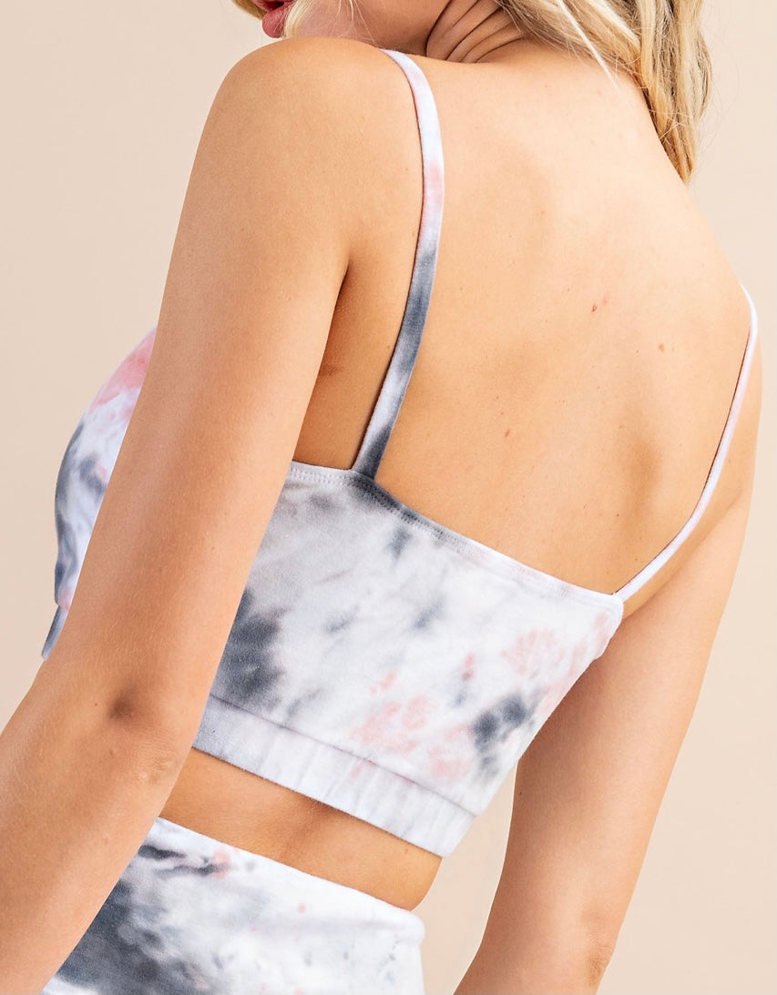 Cloudy Tie Dye Cotton Sports Bra- Teen/Junior