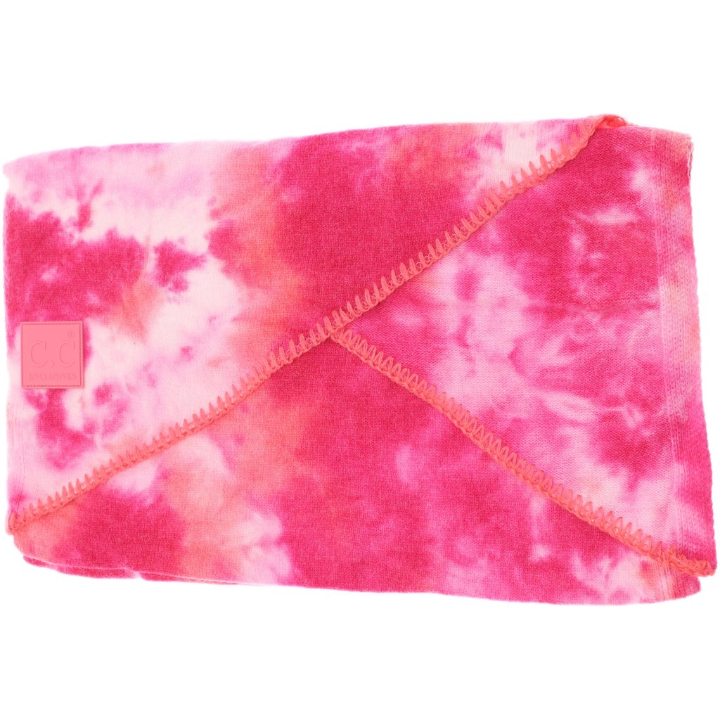 Tie Dye Scarf w/ Rubber Patch (multiple colors)