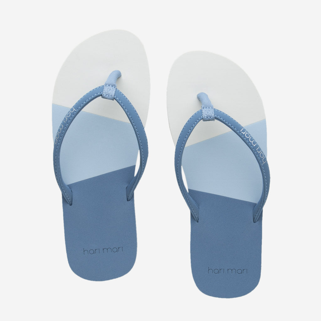 Dusty Blue Meadows Asana Flip Flop by Hari Mari