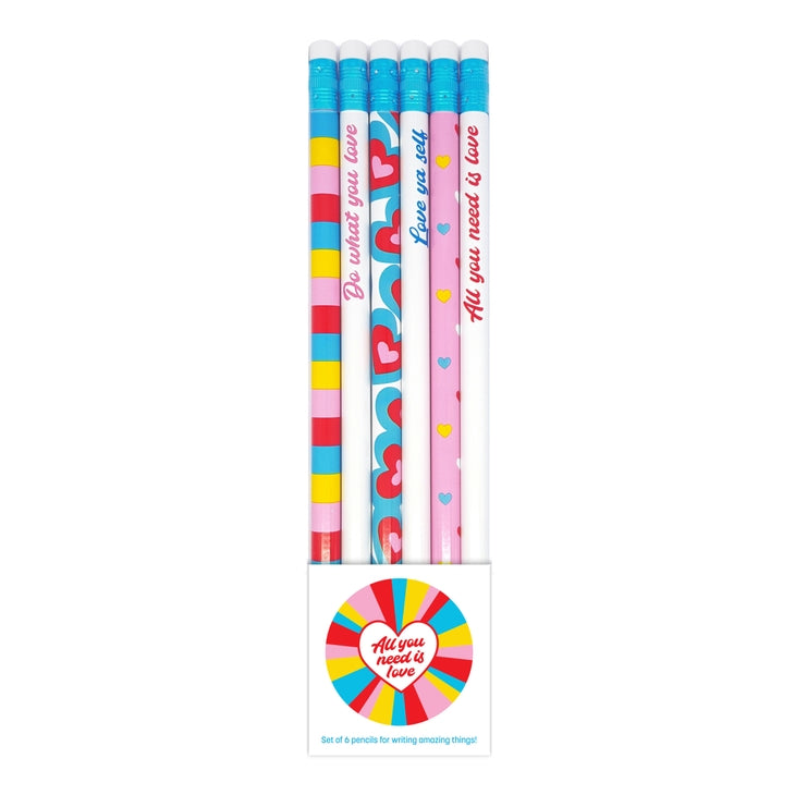 """All You Need Is Love"" Set of 6 Pencils"