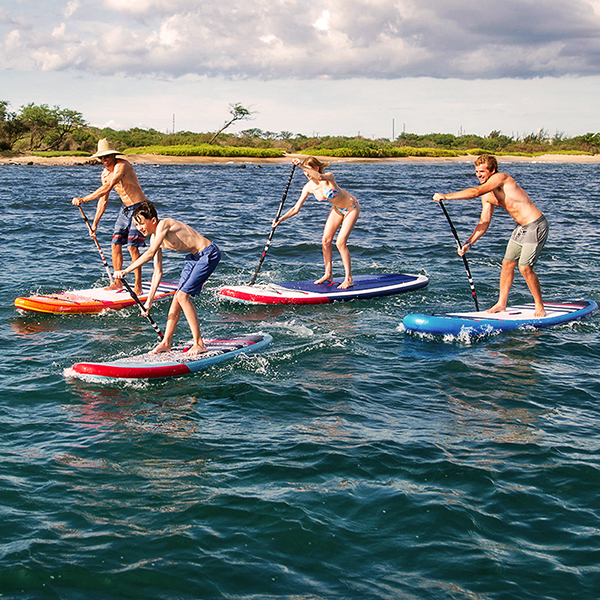 Paddle boarding racing
