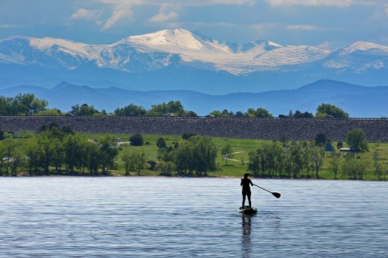 Cherry Creek Reservoir paddle boarding denver