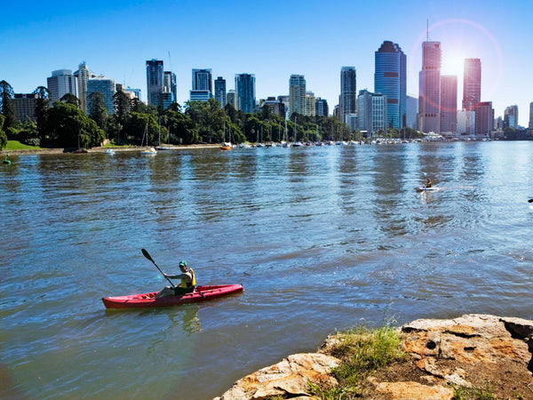 The Brisbane River paddle boarding Brisbane