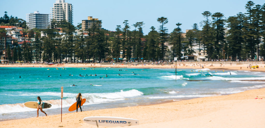 paddle boarding Manly Beach Sydney