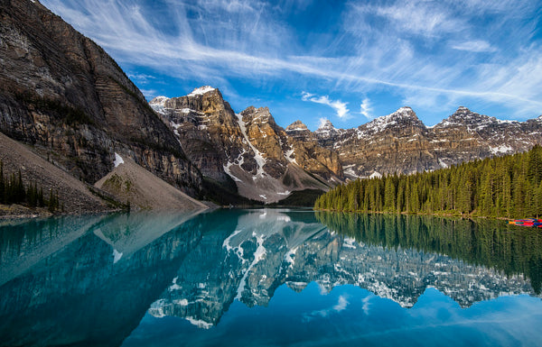 Moraine Lake Canada standup paddle boarding