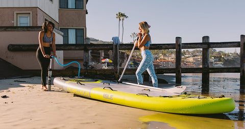 check paddle boarding gear