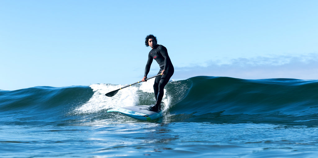 stand up addle board surfing