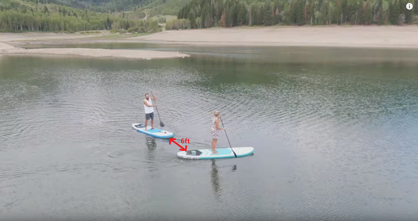 paddle boarding social distancing