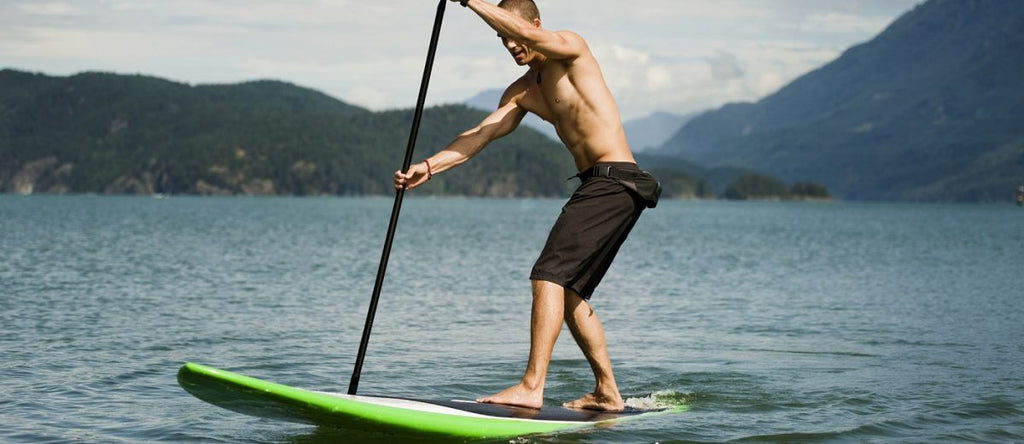 paddle boarding with your core