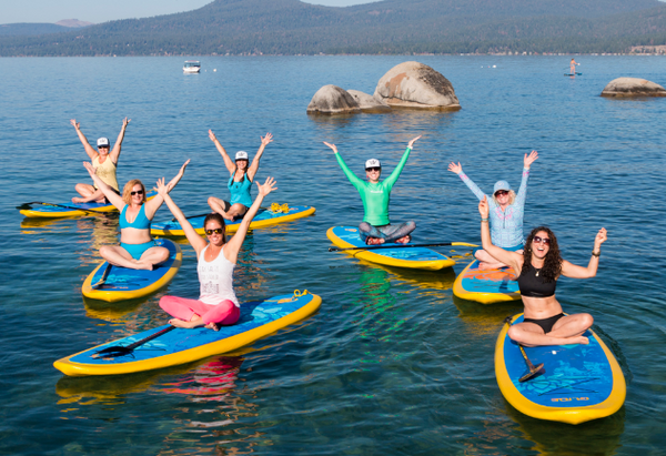 SUP yoga helps to release stress