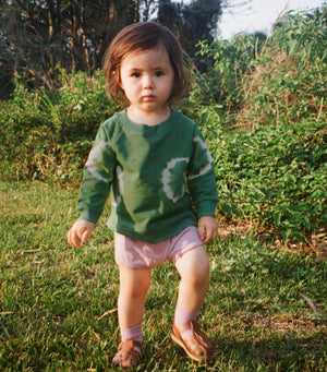 Baby Tracksuit Jumper - Cactus Green