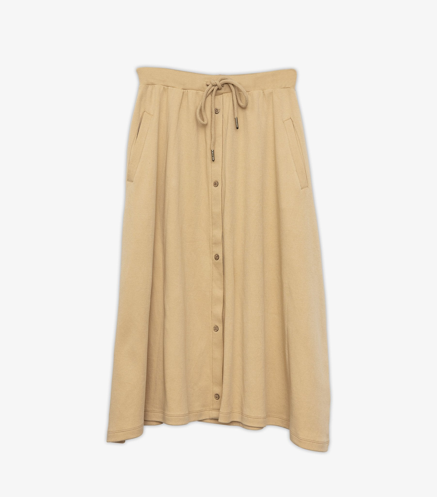 Jemimah Button Down Skirt - Warm Sand