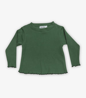Ribbed Baby Long Sleeve - Cactus Green