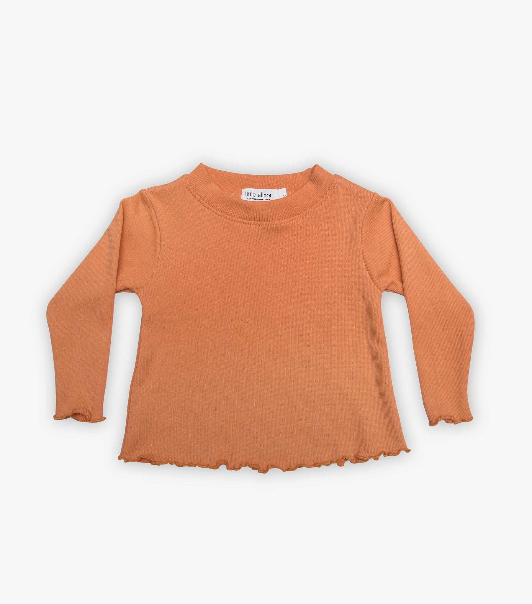 Ribbed Baby Long Sleeve - Jaffa Orange