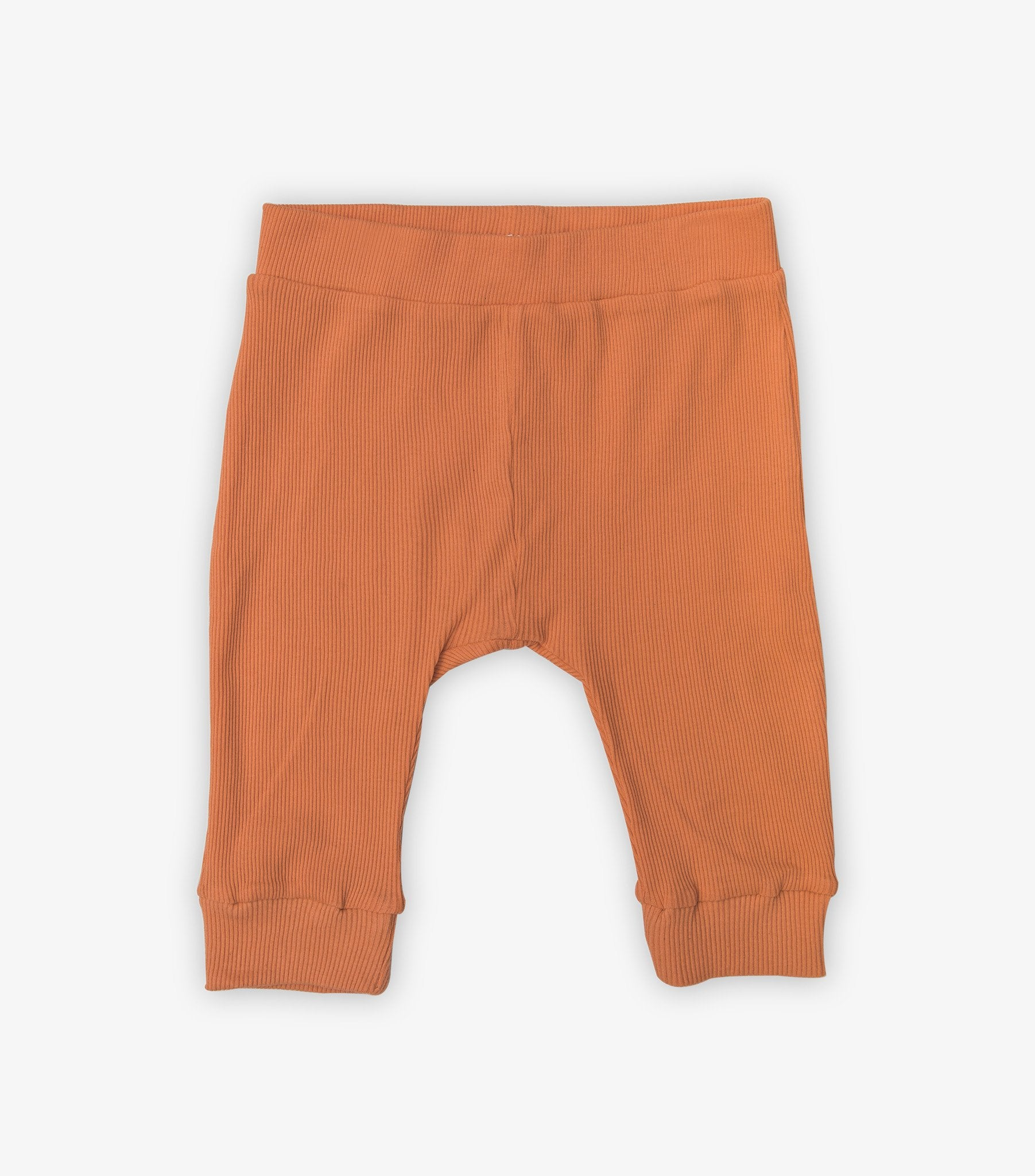 Ribbed Baby Leggings - Jaffa Orange