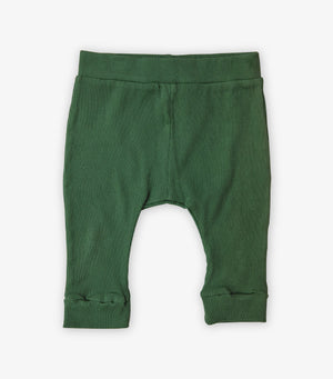 Ribbed Baby Leggings - Cactus Green