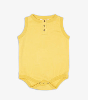 Singlet Onesie With Buttons - Aspen Gold