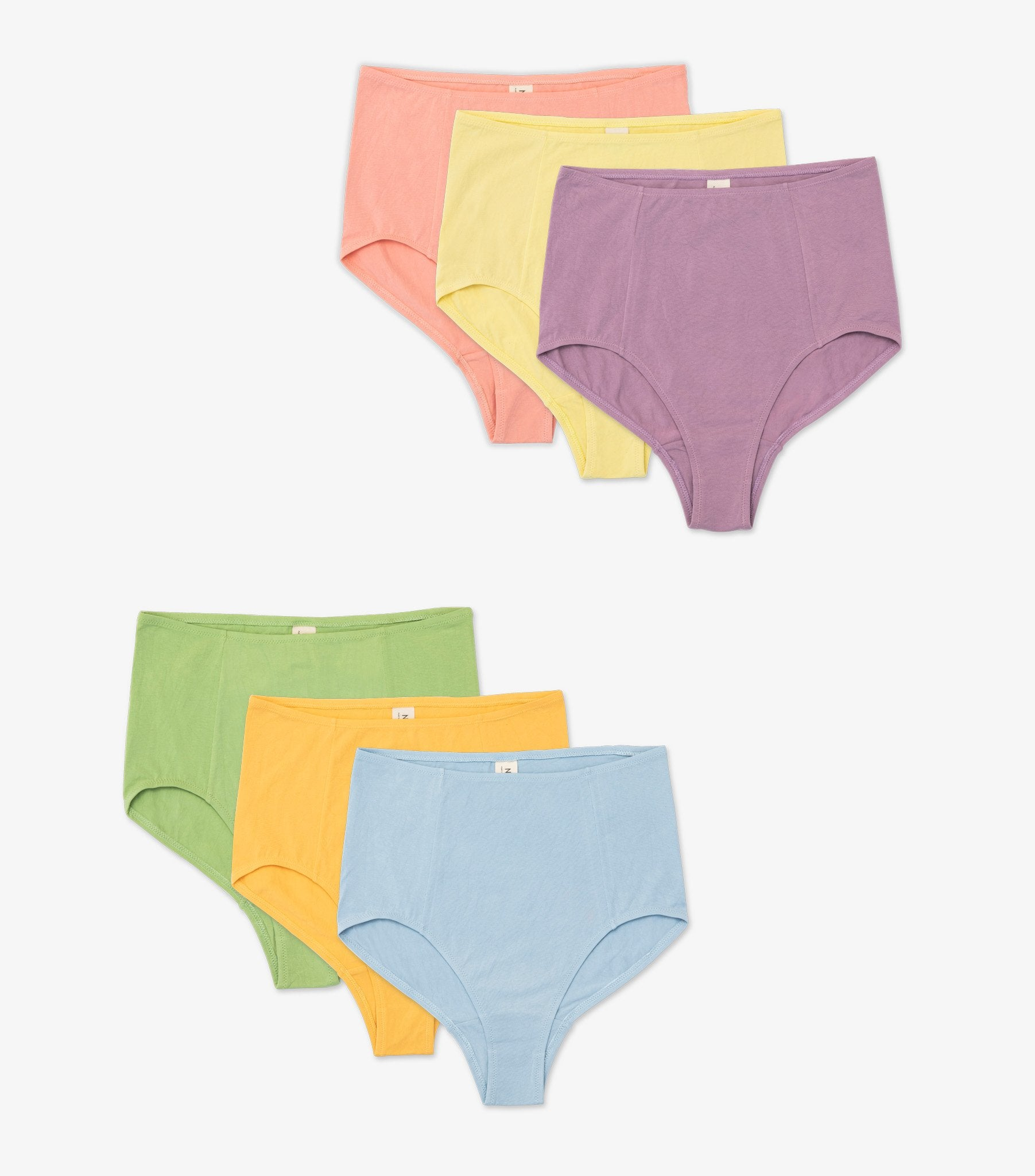 3 Pack of High Waisted Briefs - Organic