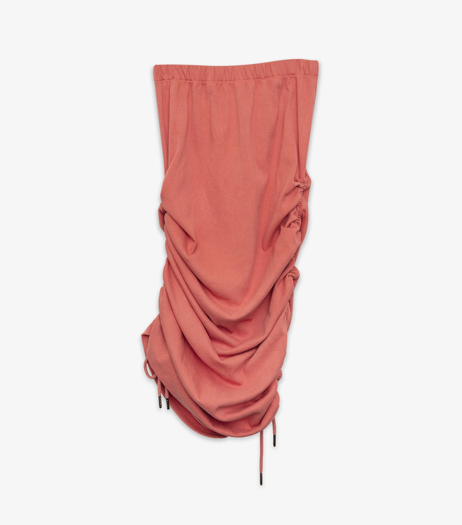 Petra Ruched Skirt - Coral Pink