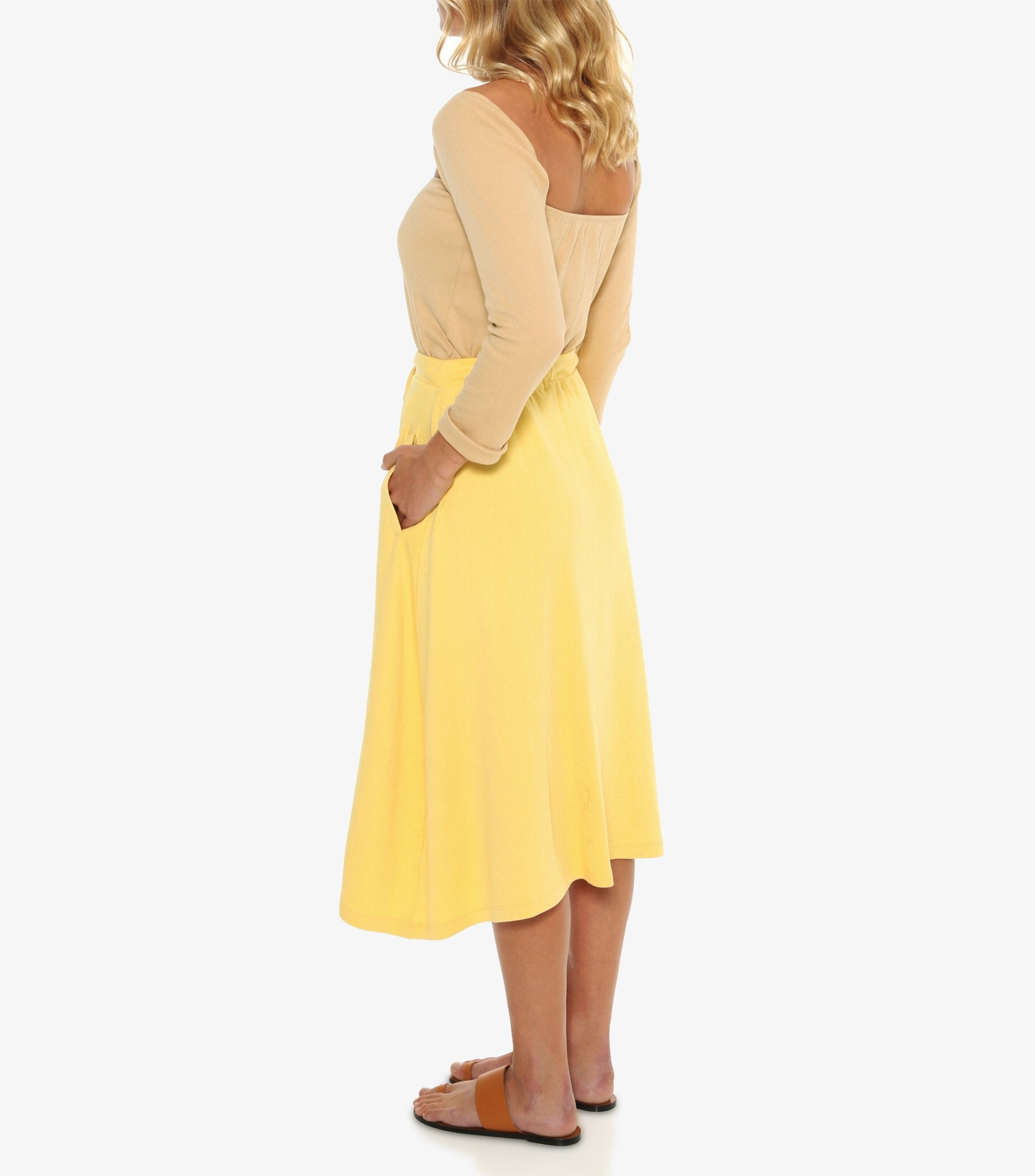 Jemimah Button Down Skirt - Aspen Gold