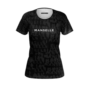 Women's Manselle Logo Tee in Shadow Graphite