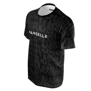 Manselle Logo Tee in Shadow Graphite