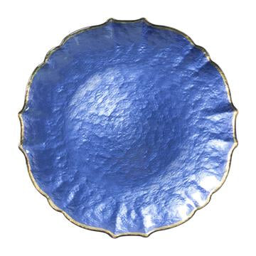 Baroque Glass Cobalt Service Plate/Charger