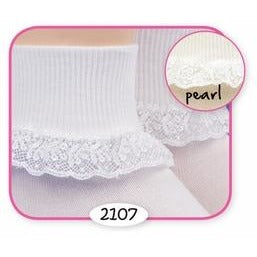Chantilly Lace Sock - White
