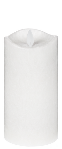 "3x6"" LED White Crystalline Wax Pillar Candle"
