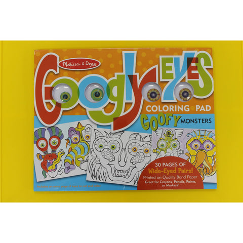 Monsters - Googly Eyes Coloring Pad