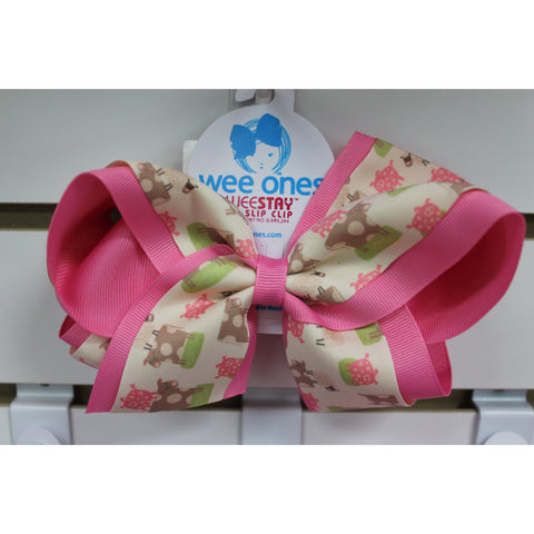 King Assorted Country Print Overlay Bow