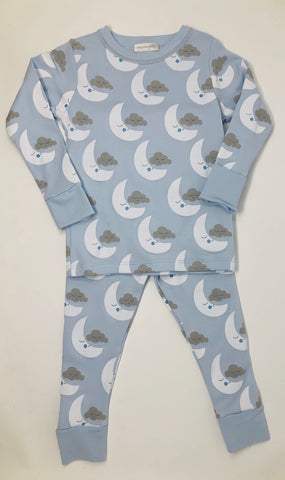 Luna Long Pajama's Light Blue