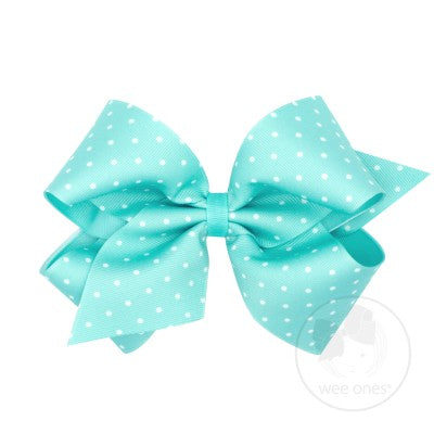King Tiny Dot Grosgrain Overlay Bow