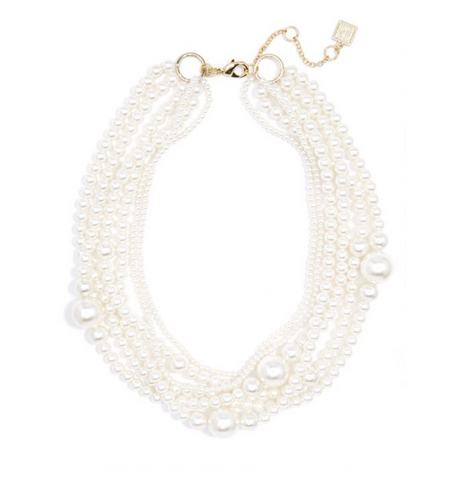 Layered Pearl Collar Necklace