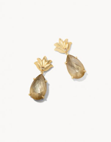 MG Pineapple Dewdrop Earrings Guilded Gold